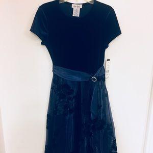 Elegant Dress - girl - navy blue